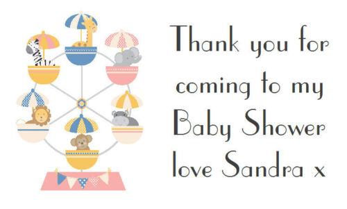 Adesivi 42 grandi etichette personalizzate//compleanni//Baby Shower RUOTA PANORAMICA
