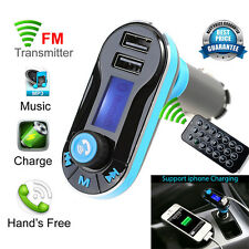 Auto Bluetooth Wireless FM Transmitter LCD MP3 Musik Player KFZ Freisprechanlage