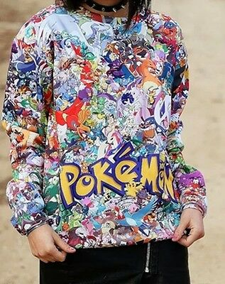 pokemon Pikachu Cartoon Cosplay Costumes Sweater Jacket Thin Coat Fashion new
