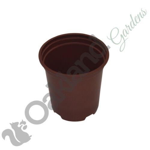 """100 x 9 cm Plant Pots terracotta Plastic Tall Deep Full Size Flower Pot 3.5/"""""""