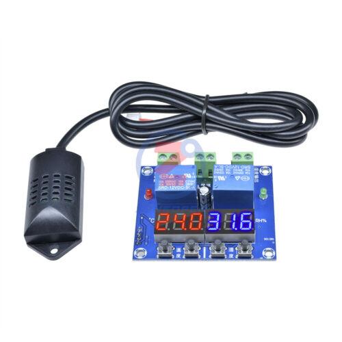 XH-M452 DC 12V Dual Digital LED Temperature /& Humidity Control Thermostat Probe