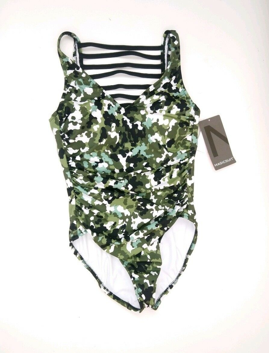 259eb14fc5 Buy Magicsuit Gi Jane Steffi Strappy Back One Piece Swimsuit Size 8 Olive  Green online