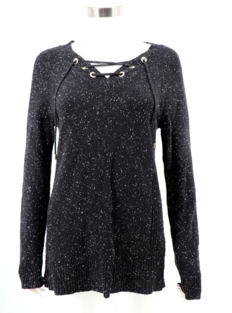 Calvin Klein 5467 Size Small S Womens Black Marled Pullover Sweater