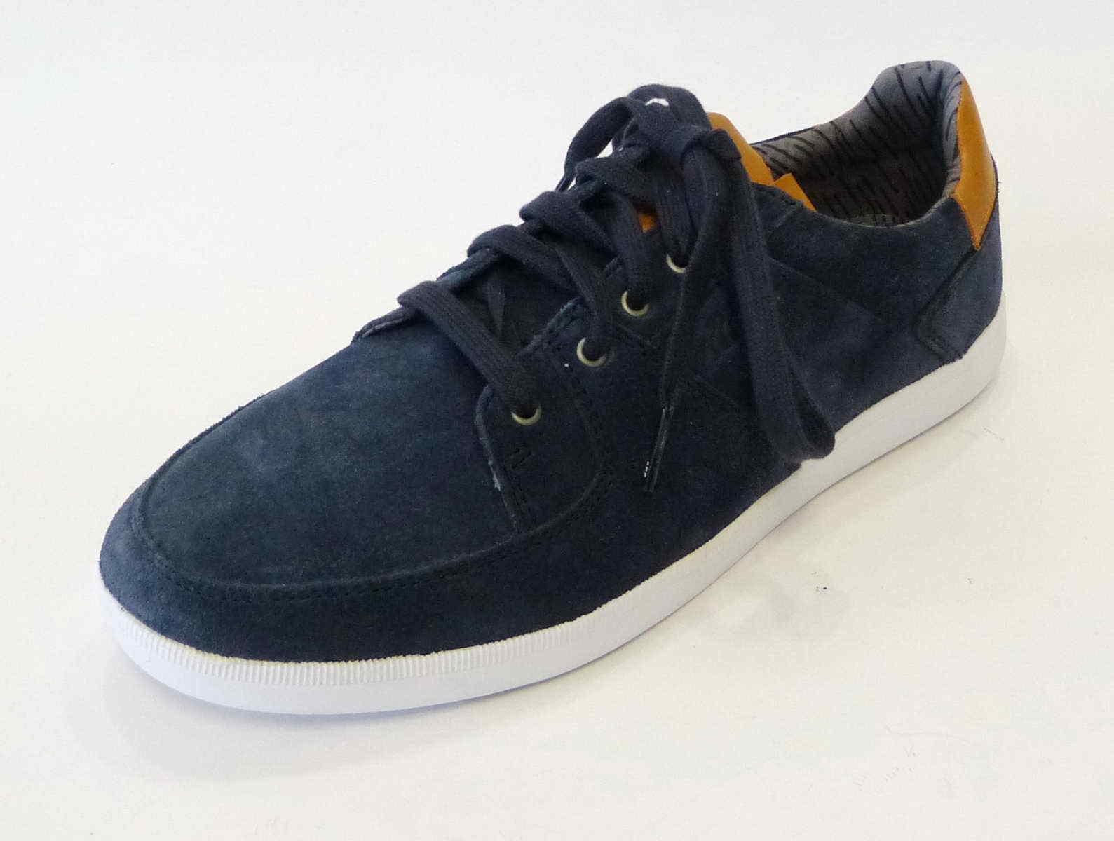 Boxfresh cortos cladd e15059 azul nobuck serraje cuero zapatos de terciopelo