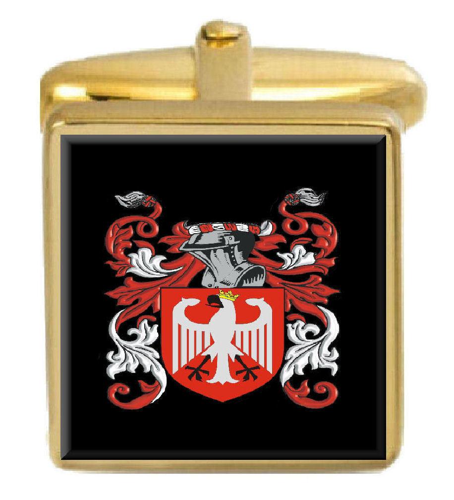 Gammill Inghiletrra Famiglia Stemma Cognome Stemma oro oro oro Gemelli Inciso Scatola 5db916