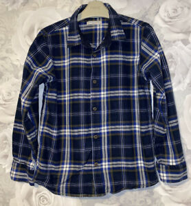 Boys Age 9-10 Years - M&S Long Sleeved Shirt