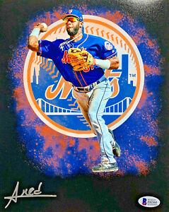 New-York-Mets-Amed-Rosario-Signed-8x10-Photo-Auto-Beckett-BAS-COA