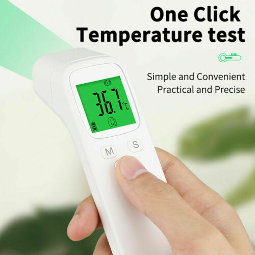 Digitales LCD Infrarot Thermometer Berührungslose Stirn Baby Temperature Gun KN