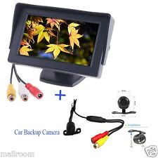 "Wireless Car Rear View Kit 4.3"" Foldable LCD Monitor + Reversing Backup Camera"