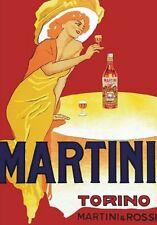 "TARGA VINTAGE ""1960 MARTINI & ROSSI"" Pubblicità, Advertising,Poster,Plate, Retro"
