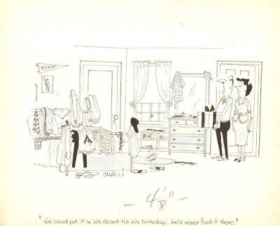 1950 True Humorama Art By Dick Cavalli Waterproof Messy Kids Room Gag Shock-Resistant And Antimagnetic