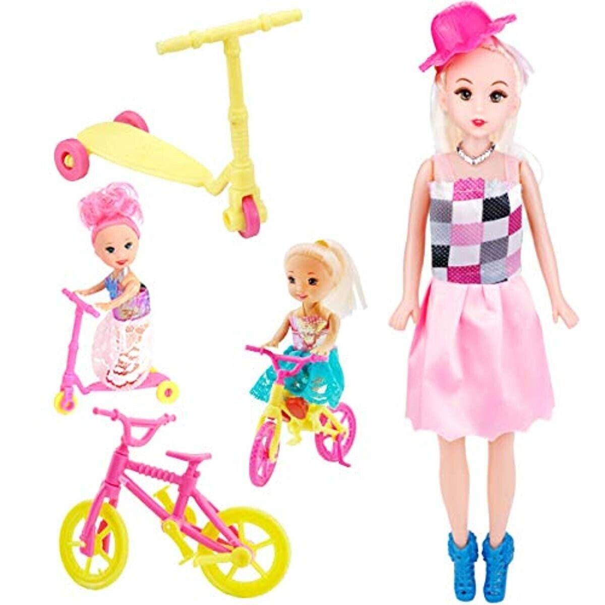 73PCS For Barbie Doll Clothes Party Gown Shoes Bag Necklace Hanger Accessories 5