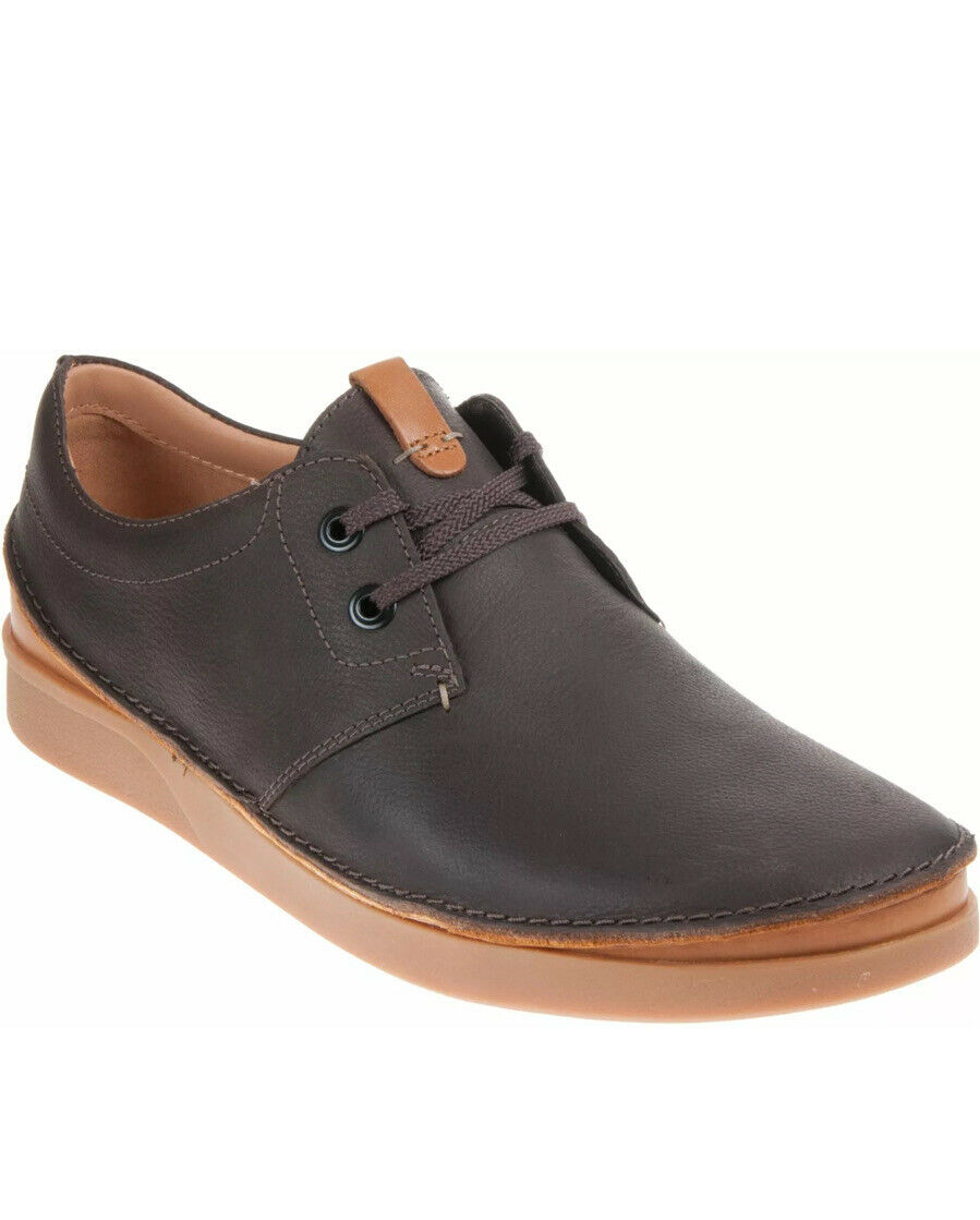 Clarks Men's Active Air Shoes OAKLAND LACE Dark Brown Leather UK Size 7/41 G
