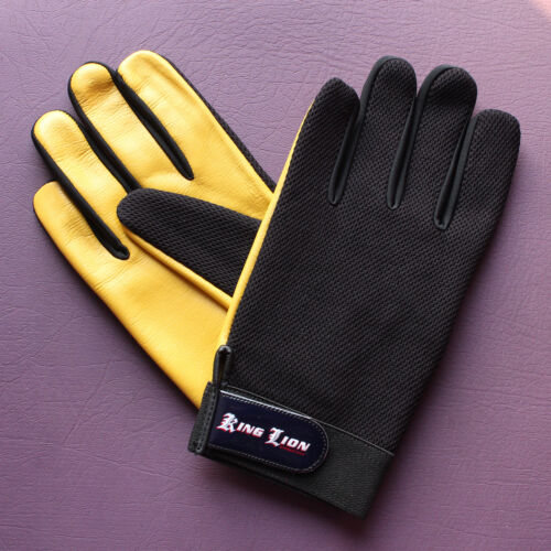 Mens Leather Mesh soft Driving Gloves Retro style Top quality Comfort Chauffeur