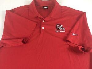 Kofa-Kings-Football-Polo-Shirt-Mens-XL-Nike-Golf-Dri-Fit-Yuma-Arizona-School-Red