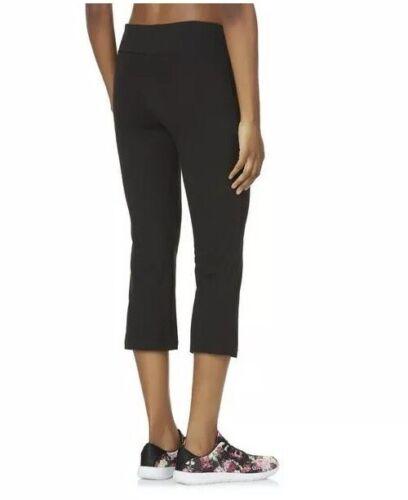 Everlast Shaping Slimming Tummy Control Cropped Yoga Capri Pants Black S NEW