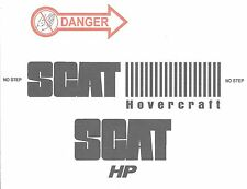 SCAT HOVERCRAFT DECAL SET CUSTOM MADE (PN DECAL 101)