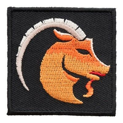 Embroidered Horoscope Astrology Red /& Black Capricorn Goat Sign Patch Iron On