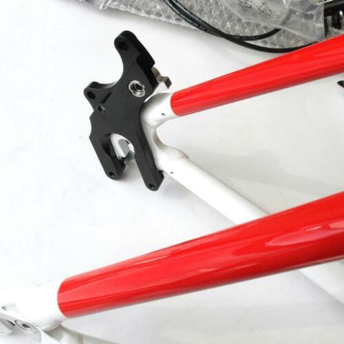 Einstellbar Fahrrad Disc Bremse Halterung Konverter Rahmen Adapter Straße