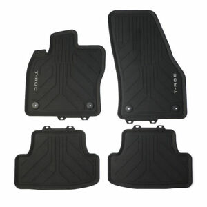 VW T-Roc all weather Rubber Mats front and rear SET with ...