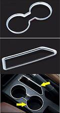 For Jeep Patriot Compass 2011-16 Chrome Center Console Panel Cup Holder Box Trim