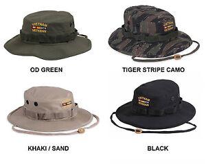 1d2f642c864c6 Vietnam Veteran BOONIE HAT US Army Marine Corps Navy USAF USCG Vet ...