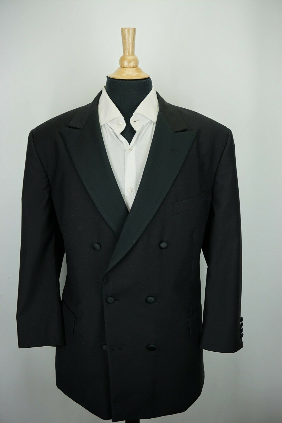 Brooks Brothers 1818 Madison DBL Breasted Peak Lapel Black 2 Pc Tuxedo 48R BIG