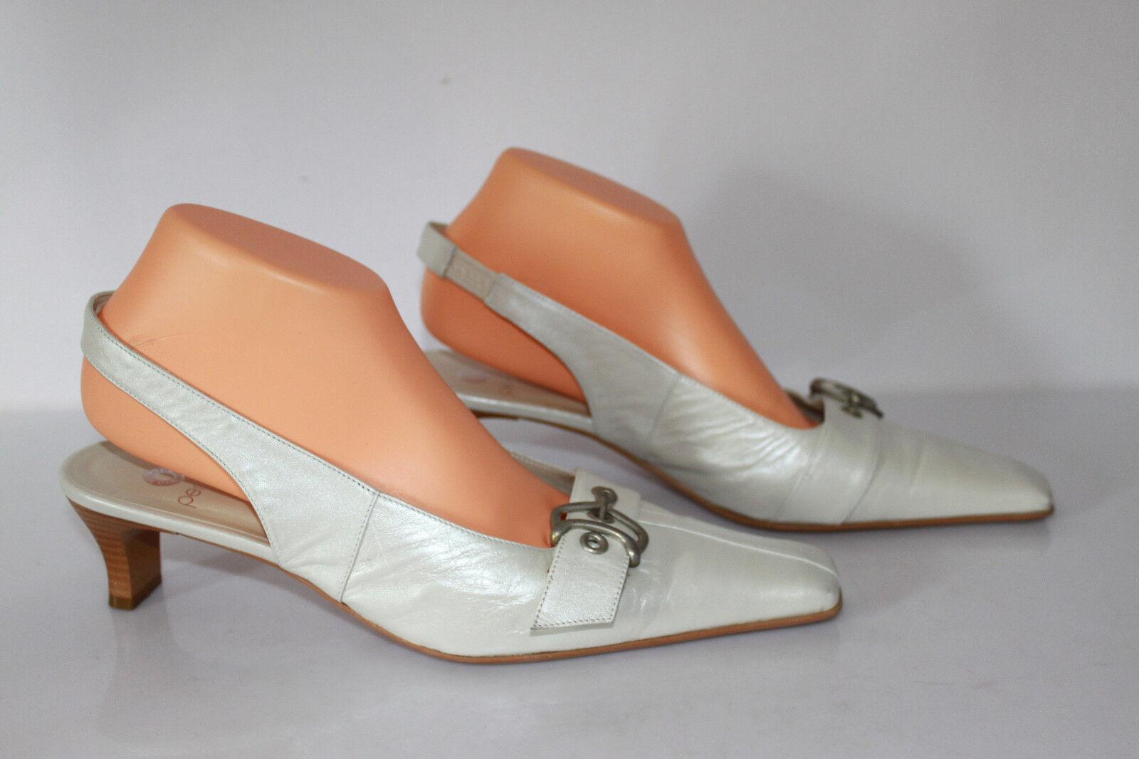 Open Court shoes PERLATO Leather Ecru slightly Iridescent T 41