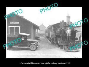 OLD-LARGE-HISTORIC-PHOTO-CAZENOVIA-WISCONSIN-THE-RAILWAY-STATION-c1910