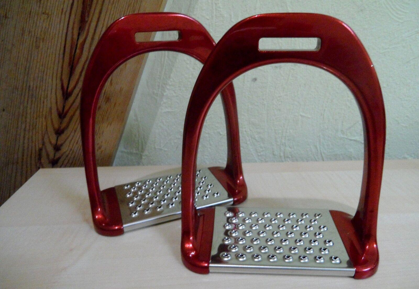 Steigbügel Aluminium Alu  Pferd Sattel Alubügel Pferd  blau rot schwarz silber carbon c9f34b