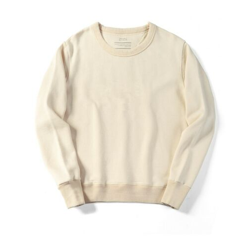 Men/'s O-Neck Harajuku Hoodies Original Fabric Color Long sleeves Cotton Pullover