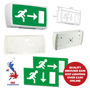 8W-3HR-MAINTAINED-EMERGENCY-FIRE-ESCAPE-EXIT-LIGHT-BOX-DOOR-SIGN-WALL-MOUNTED-T5