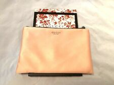 Gucci Bloom Pouch Cosmetic Hand Bag Makeup Case Clutch Blush Pink Nude