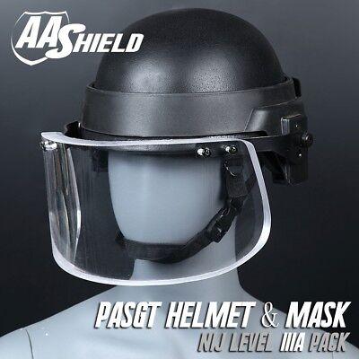 Military NIJ IIIA Visor Bullet Proof Visor for Ballistic Bulletproof Helmets Hat