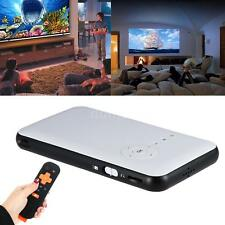 Mini LED DLP WIFI NEW Bluetooth Pocket Projector Home Cinema HD 1080P USB 4Y1E