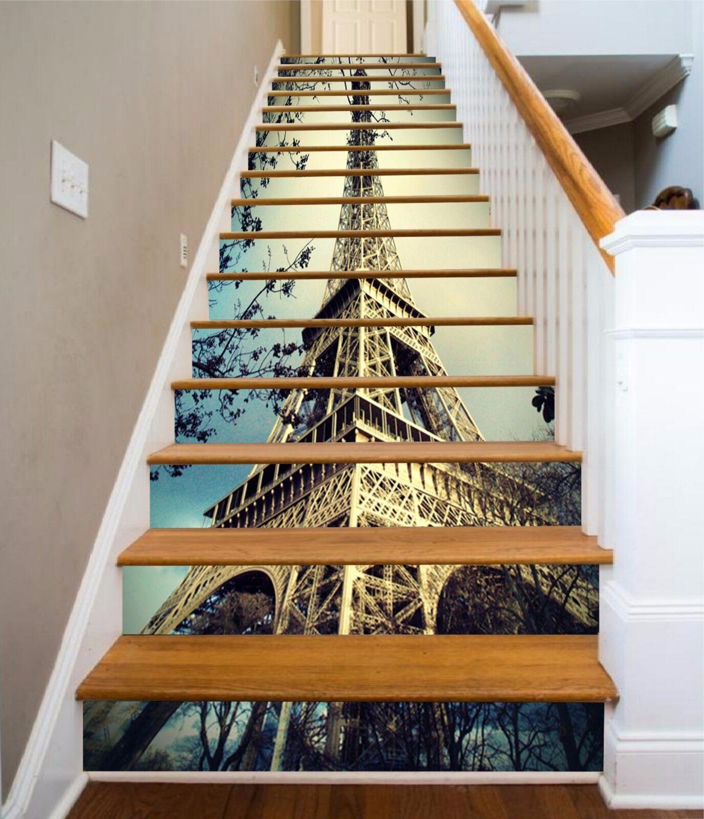 3D Paris Eiffel Tower 482 Risers Decoration Photo Mural Vinyl Decal Wallpaper CA