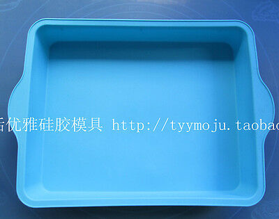 New Arrive Big Silicone rectangle Baking Bareware Cake Mold Mould Pan TT