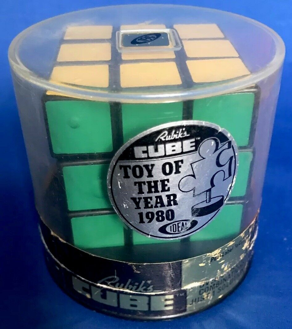 1981 RUBIKS CUBE IDEAL TOYS Toy Of The Year 1980 Open TUB Hungary Made VINTAGE