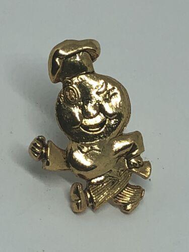 Genuine Vintage McDONALDS Employee Lapel Pin SPEEDEE Advertising Mascot Scarce