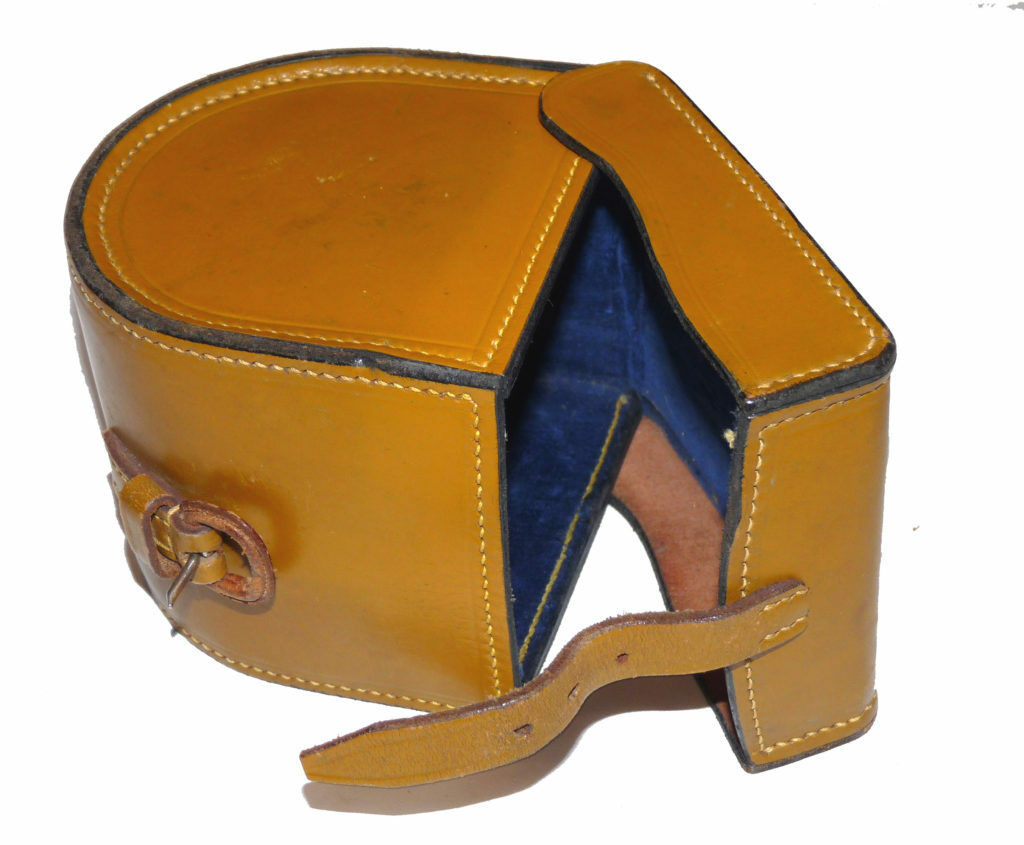 Zeldzame Hardy Licht tan Leer blauw-lined haspel case voor perfecte stijl fly reel 3-3-3