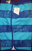 Dillard's Cremieux Nautical Striped Elastic Mens Swimwear Trunks M F881 Rt $49