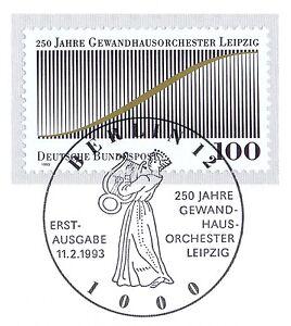 Rfa 1993: Gewandhaus Orchestre Leipzig Nº 1654! De Berlin Ersttags-cachet Spécial!-ester Leipzig Nr. 1654! Berliner Ersttags-sonderstempel!afficher Le Titre D'origine