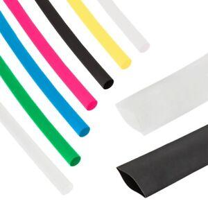 1-Meter-Schrumpfschlauch-Schrumpfrate-2-1-diverse-Groessen-amp-Farben-zur-Auswahl