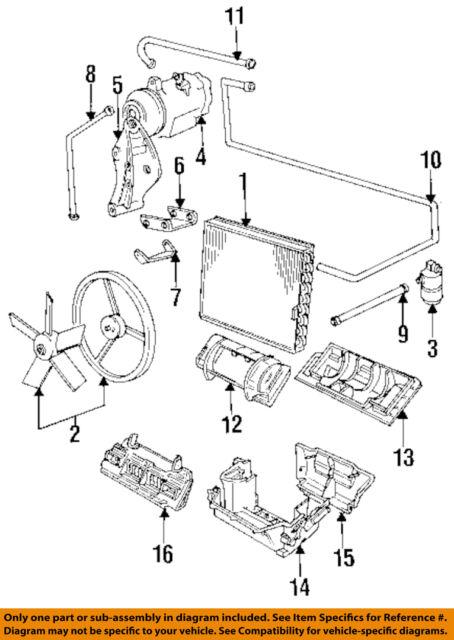 bmw oem 88-92 735i 3 5l-l6 air conditioner-a/c