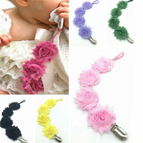 Baby Boys Girls Dummy Pacifier Soother Nipple Leash Strap Chain Clip Holder Z