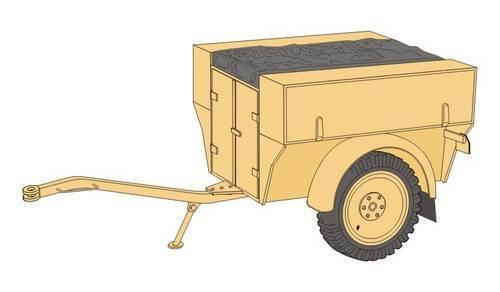 MV099 Kit résine PLANET MODELS 1//72 Ref Remorque Allemande Sd Anh 54