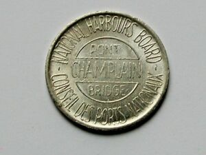 Montreal-QC-CANADA-Bilingual-French-amp-English-Pont-Champlain-Bridge-Toll-Token
