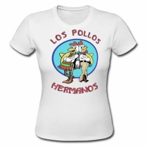 Los Pollos Hermanos Female T-Shirt Womans White Gustavo Fast Food Top