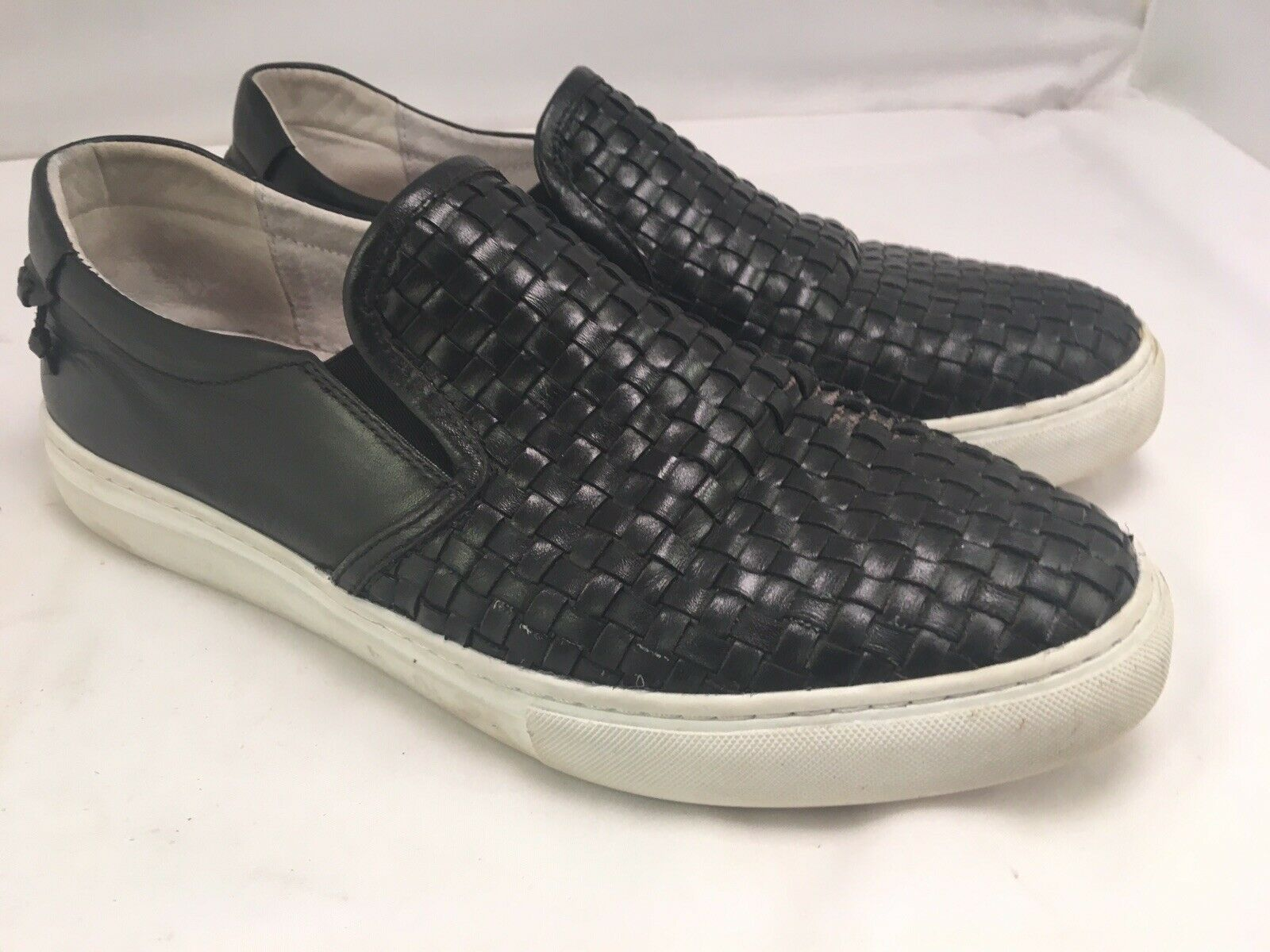 Vintage Foundry Woven Leather Slip On shoes Size 9.5