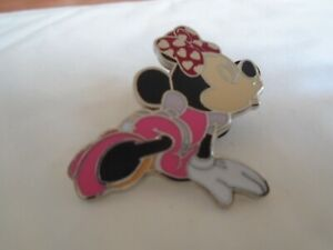 Disney's Minnie Mouse In Pink Eye's Closed Pin Badge